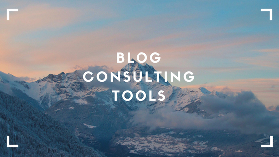 Blog consulting tools